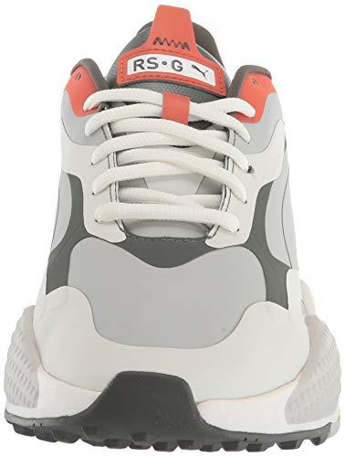 PUMA Men's Rs-G Golf Shoe, Vaporous Gray-Thyme-pureed Pumpkin, 9 UK