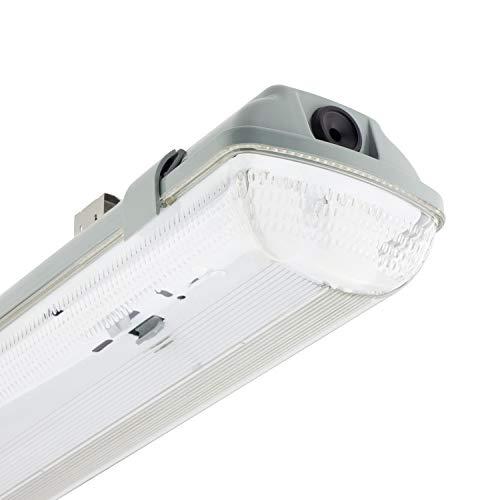Pantalla Estanca para dos Tubos de LED 1200mm PC/PC Conexión un Lateral