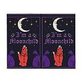 Magic Violet Cat Moon - Manta suave para sofá cama (40 x 50 pulgadas)