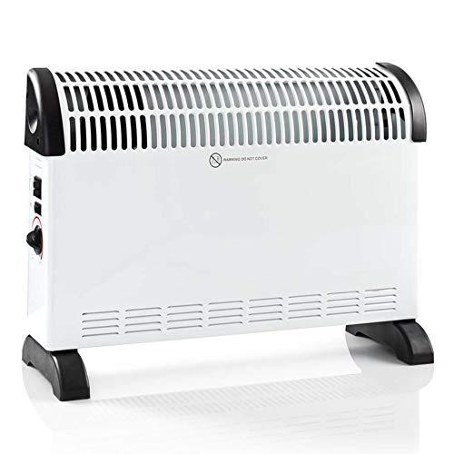 Heizgerät mit 3 Stufen 750/1250/2000W, Ventilator, Elektroheizung, Konvektor, Heizkörper, Elektroheizer, Heizlüfter weiß