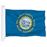 DFLIVE South Dakota State Flag Banner 3Ft x 5Ft Polyester Printed with Grommets