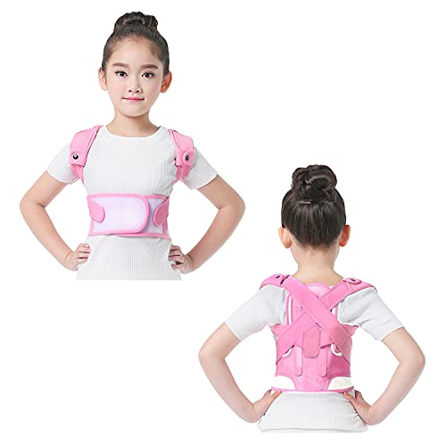 Odowalker Posture Corrector for Kids, Adjustable and Relieves Upper Back Brace Clavicle Support Device for TeenagersImprove Posture and Prevent Slouching (L, Pink)