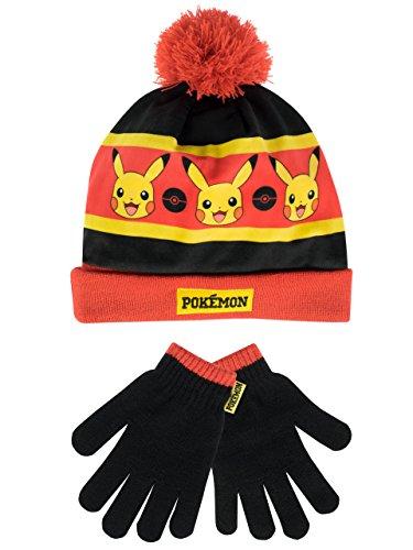 Pokèmon - Conjunto de gorro y guantes para niño Multicolor - Un tamaño