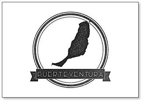Fuerteventura Kaart - Klassieke Koelkast Magneet