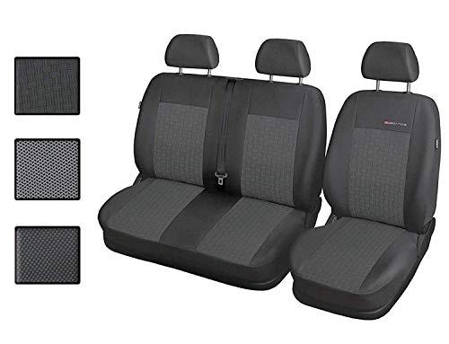 Carpendo Sitzbezüge Auto 1+2 Transporter Autositzbezüge Schonbezüge Vorne mit Airbag System - Elegance P1