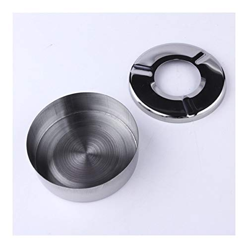 JINSUO Yiyuntian Ashtray-Creative Home New Practical Smoking Accessories Stainless Steel Ashtray Lid Home Gadgets (Color : 1)