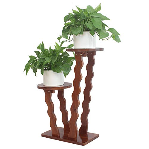 Blumenständer aus Holz, Indoor Outdoor Vertikal Mehrfach Pflanzgefäß Halter Blumenleiter...