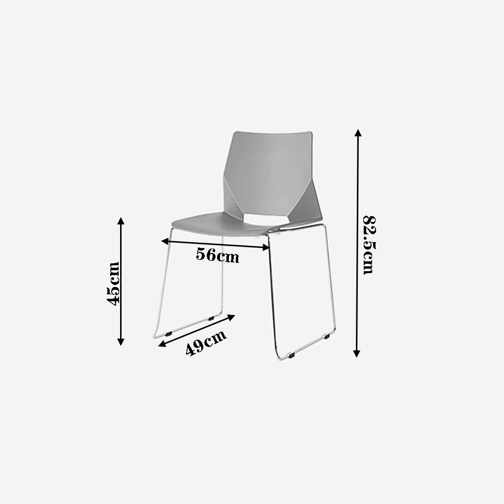 Chaise de bureau designer en fer forgé dossier créatif arc personnel chaise d'ordinateur dinant la chaise (Couleur : Gray) Noir