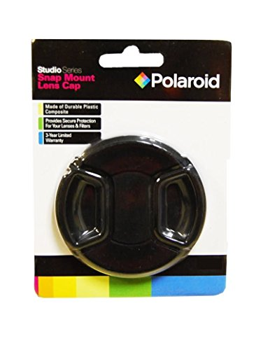 Polaroid Snap Mount Lens Cap Cámara digital Negro tapa de lente - Tapa para objetivos (Negro, Cámara digital, Pentax X-5K-01/K-30/K-X/K-7/K-5/K-5 II/K-R/645D/K20D/K200D/K2000/K10D/K2000/K1000/K100D/Super/K110D)