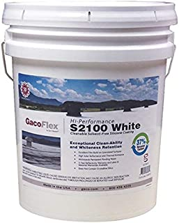 Gaco Western LLC 35511869 Western White Silicone Roof Coating Cleanable Solvent-Free 5-Gal