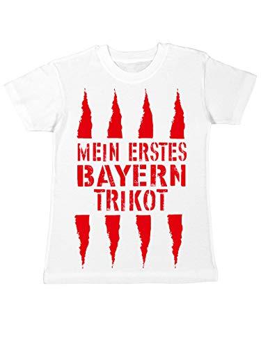 clothinx Kinder T-Shirt Mein erstes Bayern Trikot Weiß Gr. 140