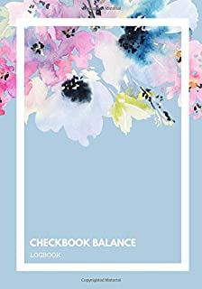 """Checkbook Balance Logbook: 6 Column Personal Checking Account Payment Record Tracker 