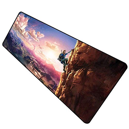 WYQLZ Gaming Mouse Pad The Legend of Zelda Breath of The Wild Large Mouse Mat Game Keyboard Mat Table Mat Extended Mousepad for Computer PC Mouse Pad (Size : 7003003mm)