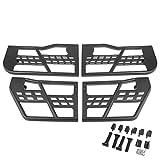 DNA MOTORING ZTL-Y-0154 Powdercoated Black Offroad Tubular Doors Set for 07-18 Jeep Wrangler JK