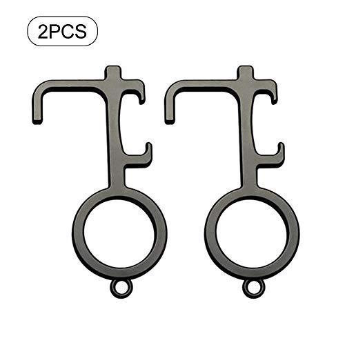 tackjoke 2 STK EDC Berührungser -Türöffner, Hand Türöffner, einfach zu tragen, Schlüsselwerkzeug für den Außenbereich Touchscreen-Geschmack, gehört die Hände sauber.