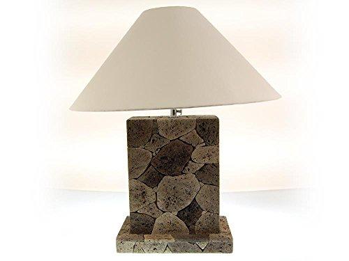 SEESTERN Tuff Lava steen tafellamp bijzetting lamp variabel 50-60 cm hoog /1624