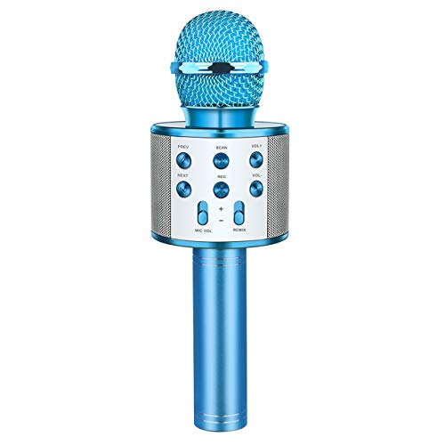Toys for 3-12 Year Old Boys Girls, Fricon Portable Bluetooth Wireless Microphone Karaoke Machine with Speaker for Kids Age 5-10 Birthday for 3-12 Year Old Boys Girls