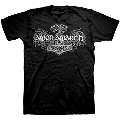 huguohuadg Amon Amarth Viking Horses T-Shirt(Size:XXL