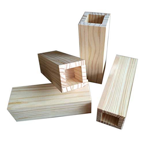 4 Packungen Betterhöhungen Holzmöbel Heber Innen 6 cm x 6 cm Rille Bett Heben – Für Couch Sofa oder Tisch Erhöhung verwendet zum Anheben von Sofa-Beinen (Größe : D)