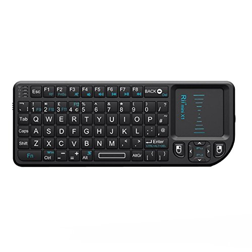 Rii K01X1 2.4 GHz Mini Wireless Keyboard with Mouse Touchpad Remote Control...