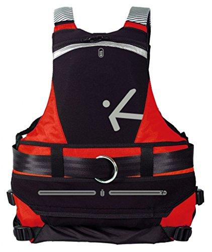 Schwimmweste Wildwasser Hiko Salty Dog Schlupfweste Kanu Kajak Canadier SUP, Farbe:rot, Größen:S/M