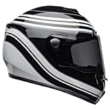 Bell SRT Street Motorcycle Helmet (Vestige Gloss White/Black, Large)
