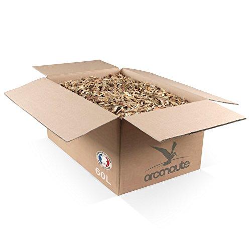 Arcanaute - Copeaux de bois et paillage - Copeaux de bois recyclé pour paillage décoratif - Carton 60L