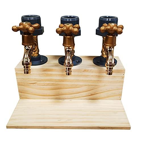 Dispensador de madera para whisky - Decantadores dispensadores de whisky, dispensador de licor con forma de grifo, dispensador de botellas de whisky para bar en casa