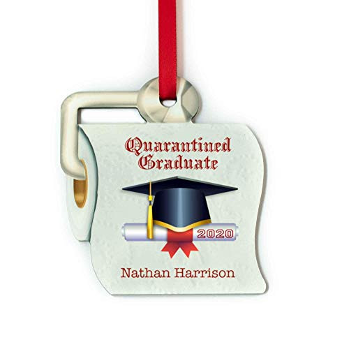 Unique Toilet Paper Shaped Class of 2020 Christmas Ornament Personalized Graduation Gift for the Quarantined Graduates
