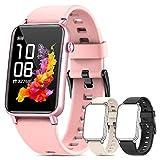 NAIXUES Smartwatch, Reloj Inteligente Mujer IP68 con Pulsómetro, 6 Modos de Deportes, Monitoreo de SpO2 Sueño y Calorías, Cronómetro, 1.57'' Táctil Pantalla Reloj Deportivo para iOS y Android