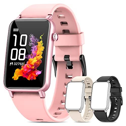 NAIXUES Smartwatch, Reloj Inteligente Mujer IP68 con Pulsómetro, 6 Modos de Deportes, Monitoreo de SpO2 Sueño y Calorías, Cronómetro, 1.57   Táctil Pantalla Reloj Deportivo para iOS y Android