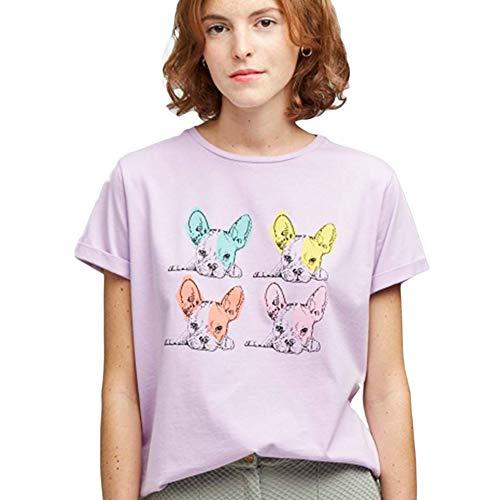 Dolores Promesas PV19 1031BMALVA Camiseta, Morado (Malva 00), Medium (Tamaño del Fabricante:M) para Mujer