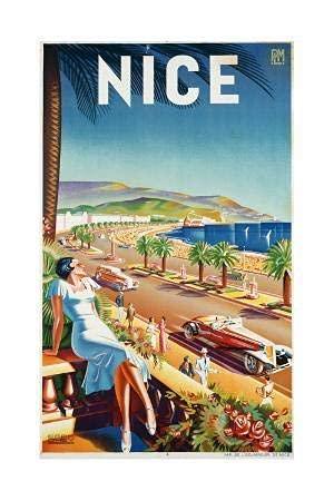 DC Prints Nizza, ca, 1930 von EFF d'hey Poster Kein Frame Board für Büro-Dekor, Familie und Ihre Freunde 11,7 * 16,5 Zoll