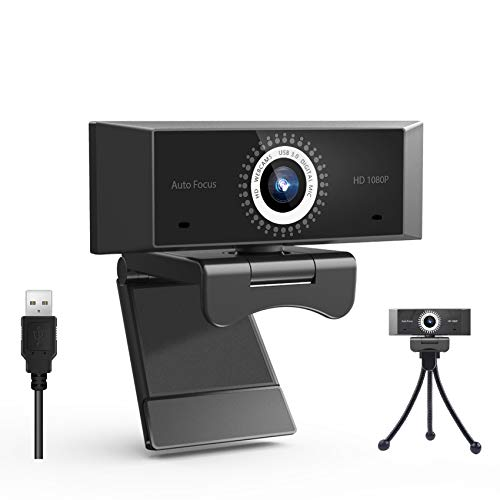 1080P Webcam with Microphone, Aumdie Monitor with Webcam with Auto Light Correction, USB3.0 Laptop Desktop Web Camera, Webcam for Pc/Mac/OS,for Video Streaming, Conference, Gaming, Online Classes