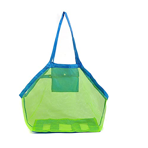 Bolsa de playa de malla,bolsa de almacenamiento liviana plegable reutilizable,adecuada para niños y adultos bolsa de almacenamiento de juguetes de viaje al aire libre bolsa de almacenamiento de arena,
