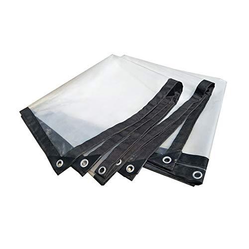 KUYUC Lona Transparente para Planta, Impermeable Polietileno Lona de Protección con Ojales para Invernadero a Prueba de Lluvia Toldos, 120g/m² (Color : Clear, Size : 3x3m/10x10ft)