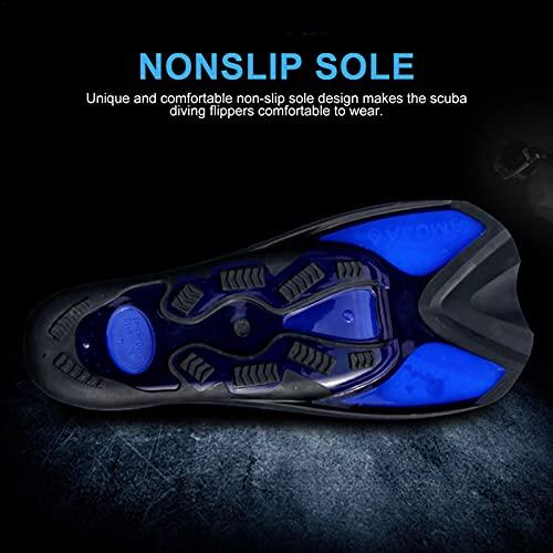 osmanthus Snorkel Fins, Travel Size Short Blade For Snorkeling Diving Pool Activities Men Women, Scuba Diving Flippers for Adults Kids
