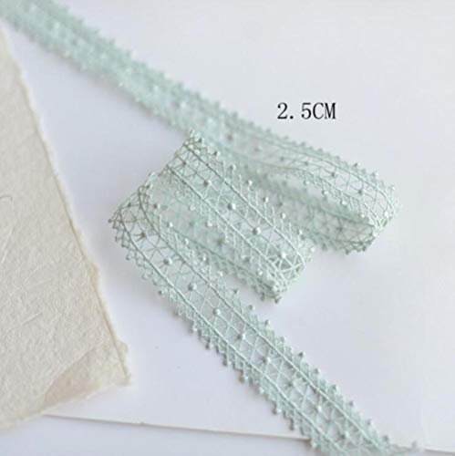 5 meter prachtige mintgroene borduurstof kant lint diy naaien gordijn kleding guipure versieringen ambachtelijke decoratie, 1