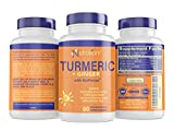 Turmeric and Ginger Capsules with BioPerine Black Pepper Extract - Gentle ON Stomach, Easy Digestion + Weight Loss - 95% Curcuminoids - Anti-Inflammatory Supplements for Joint Support & Pain Relief