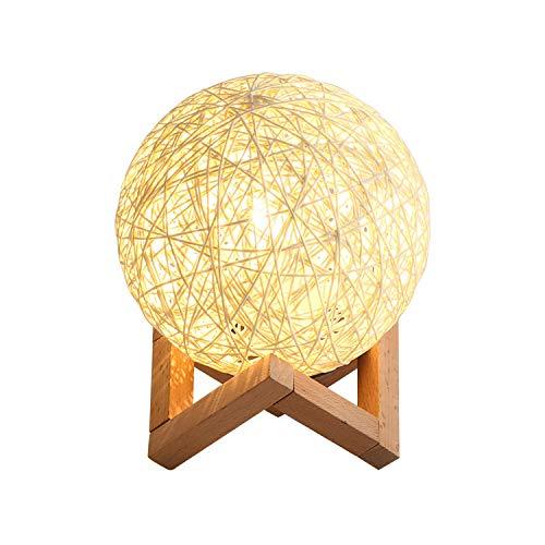 Creatieve sterrenhemel nachtlamp versierd met hennep bal led tafellamp moderne slaapkamer nachtlampje leeslamp