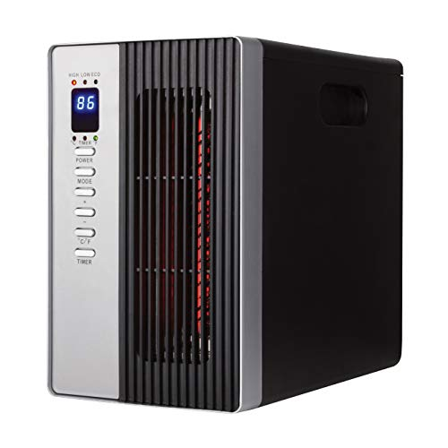 Electric Heater - Space Heater Radiant Heater, 1500W Infrared Heater with 3 Modes, Energy Saving Indoor Heater with Timer Setting, Ceramic Heater with Remote Control, Tip-Over & Overheat Protection