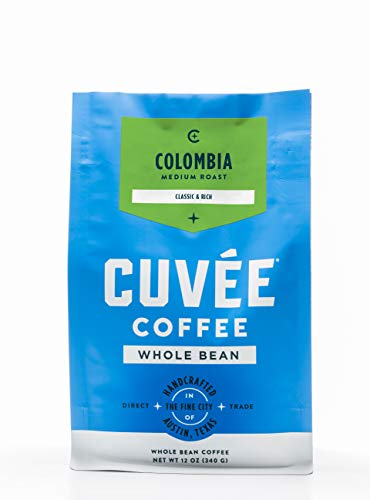Cuvée Whole Bean Coffee, Colombia Single Origin Medium Roast, Direct Trade, 12 Ounce