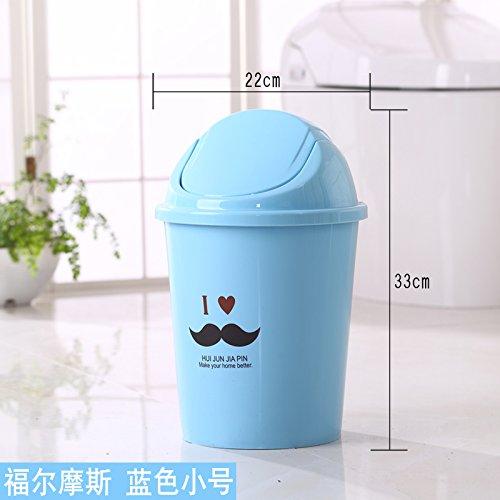Bacs à ordures extérieurs fuckluyLes innovatrices et Cuisine Toilettes Dispose d'une Couverture Chambre Salon et Bleu 22 * 33cm