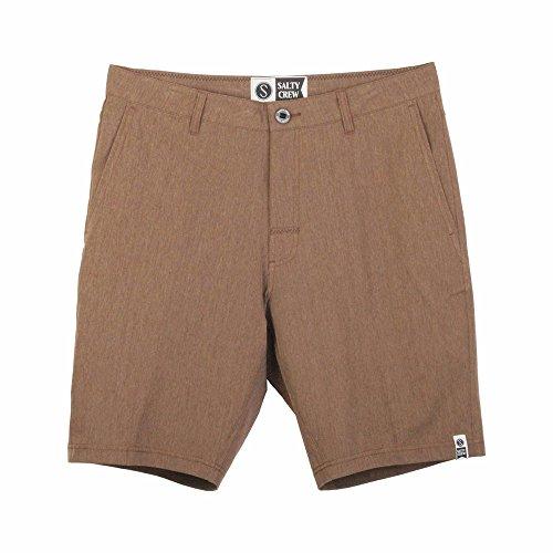 Salty Herren Crew Hybrid Shorts - Braun - 50