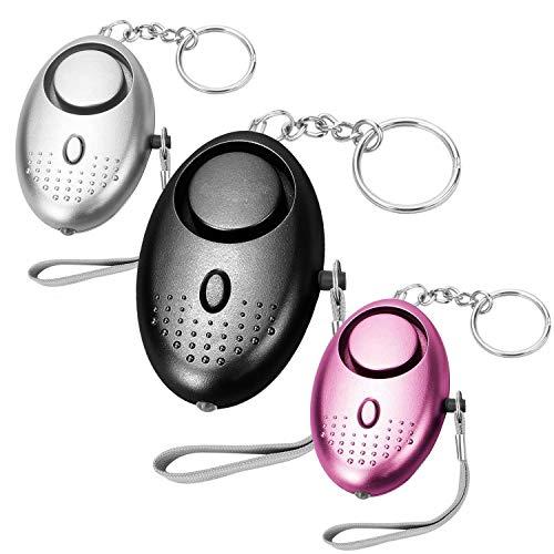 MUTUAL Taschenalarm Frauen Persönlicher Alarm Schlüsselanhänger 140DB Panikalarm Taschenlampe schlüsselanhänger für Frauen Mädchen und ältere Menschen (3 Stücke)