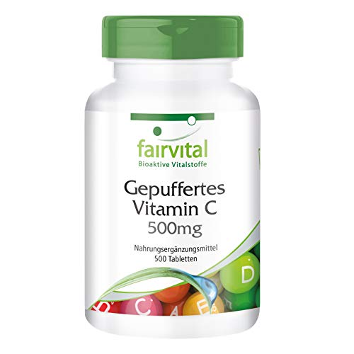 Gepuffertes Vitamin C 500mg - HOCHDOSIERT - VEGAN - 500 Tabletten