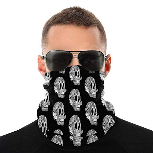 Magic Scarf Mustache Sugar Skull Face Mask Skull Bandanas Fashion Variety Head Scarf Outdoors Festivals Sports for Men and Women