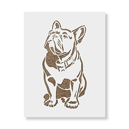 Sassy French Bulldog Stencil - Reusable Stencils for Painting - Create DIY Sassy French Bulldog Home Decor