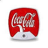 Coca-Cola Plug-in Night Light, Led Mini Night Light for Bedroom Corridor Toilet, Soft Warm Night Light, Kids Room