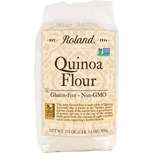 Roland Foods Quinoa Flour, Gluten-Free, Non-GMO, Specialty Imported Food, 17.6 Oz Bag, 1.1 Pound (Pack of 1) (41224722682)